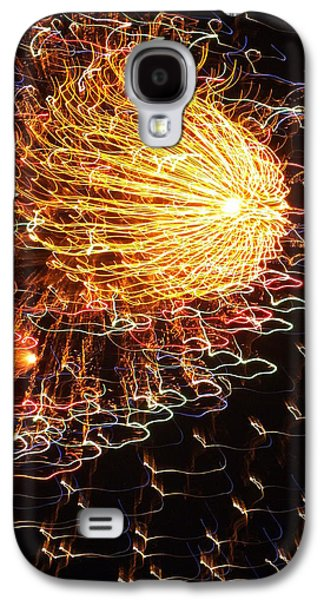 4th July Galaxy S4 Cases - Fire Flower Galaxy S4 Case by Karen Wiles