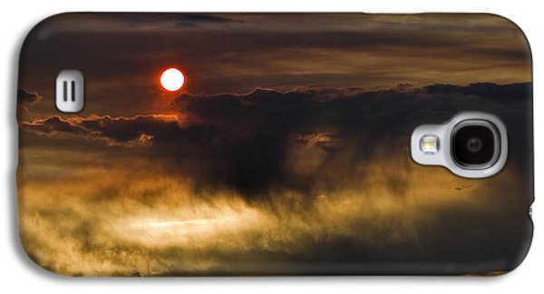 Surreal Landscape Galaxy S4 Cases - Fire in the Sky Galaxy S4 Case by Alana Thrower