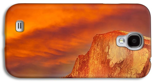 Epic Galaxy S4 Cases - Fire Over Half Dome Galaxy S4 Case by Az Jackson