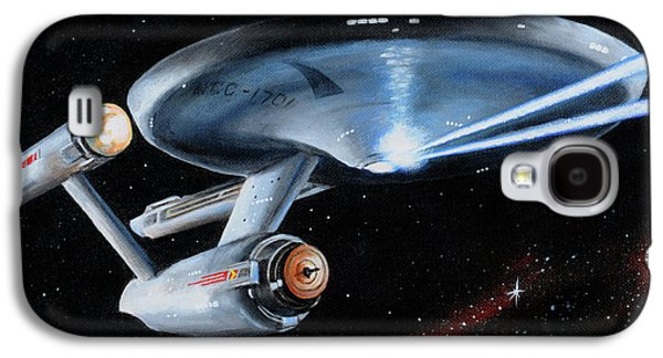 Enterprise Galaxy S4 Cases - Fire Phasers Galaxy S4 Case by Kim Lockman