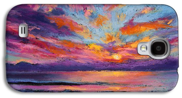 Beach Landscape Pastels Galaxy S4 Cases - Fire Sky Galaxy S4 Case by Susan Jenkins