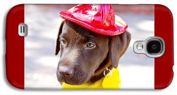 Firefighter Pup Galaxy S4 Case by Toni Hopper