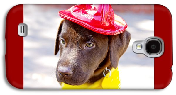 Best Friend Photographs Galaxy S4 Cases - Firefighter Pup Galaxy S4 Case by Toni Hopper