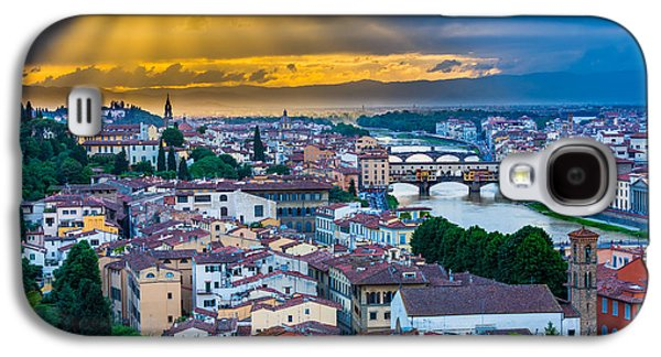 Tuscan Sunset Galaxy S4 Cases - Firenze Sunset Galaxy S4 Case by Inge Johnsson