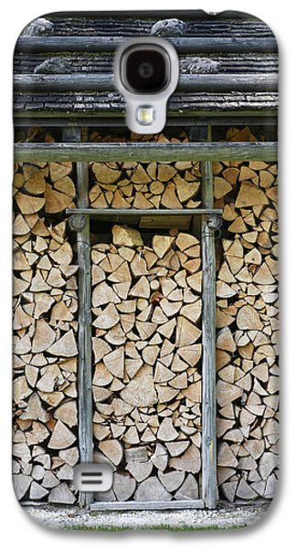 Shed Galaxy S4 Cases - Firewood stack Galaxy S4 Case by Frank Tschakert