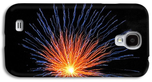 4th July Galaxy S4 Cases - Firework Eye of the Volcano Galaxy S4 Case by Adrienne Wilson