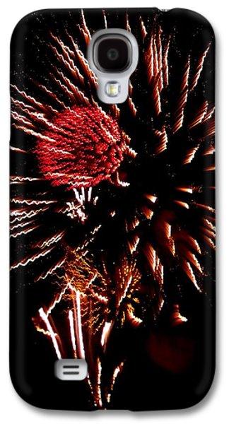 4th July Galaxy S4 Cases - Firework Red Burst   Galaxy S4 Case by Adrienne Wilson