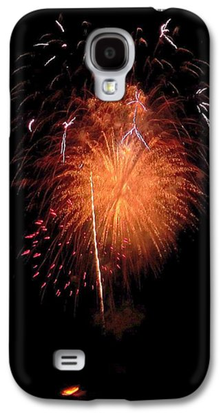 4th July Galaxy S4 Cases - Firework Seagulls in the Sunset  Galaxy S4 Case by Adrienne Wilson