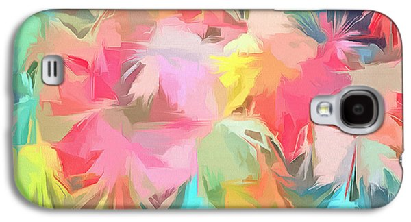 Fireworks Floral Abstract Square Galaxy S4 Case by Edward Fielding