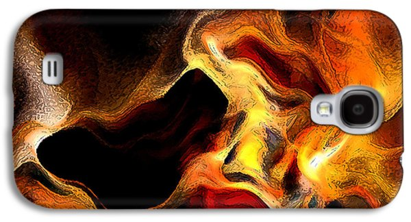 Blue Abstracts Galaxy S4 Cases - Firey Galaxy S4 Case by Ruth Palmer