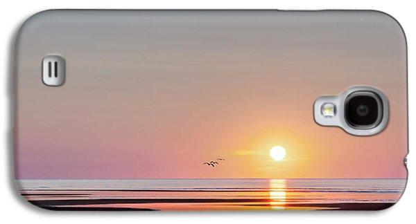 Beach Landscape Galaxy S4 Cases - First Encounter Beach Cape Cod Galaxy S4 Case by Bill Wakeley