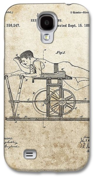 First Exercise Machine Patent Galaxy S4 Case by Dan Sproul