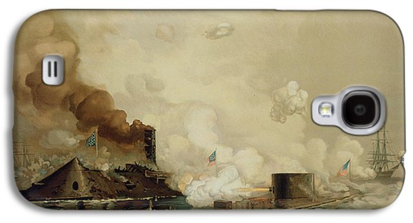 Historic Ship Galaxy S4 Cases - First Fight between Ironclads Galaxy S4 Case by Julian Oliver Davidson