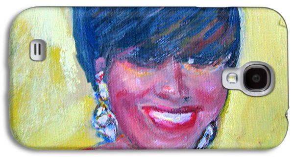 First Lady Paintings Galaxy S4 Cases - First Lady in Red Galaxy S4 Case by Patricia Taylor