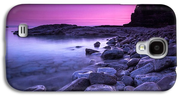 Early Spring Galaxy S4 Cases - First Light on the Rocks at Indian Head Cove Galaxy S4 Case by Cale Best