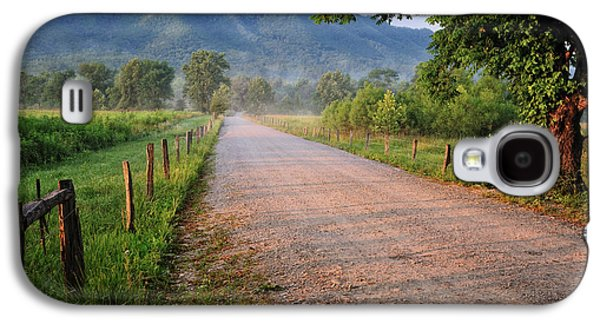 Farmscape Galaxy S4 Cases - First Light - Sparks Lane at Cades Cove Tennessee Galaxy S4 Case by Thomas Schoeller
