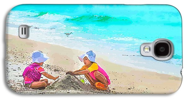 A Hot Summer Day Galaxy S4 Cases - First Sand Castle Galaxy S4 Case by Susan Molnar
