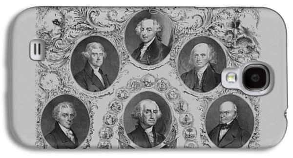 First Six U.s. Presidents Galaxy S4 Case by War Is Hell Store