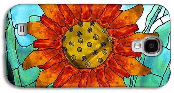 Digital Glass Galaxy S4 Cases - First Sun Galaxy S4 Case by Wendy Rickwalt