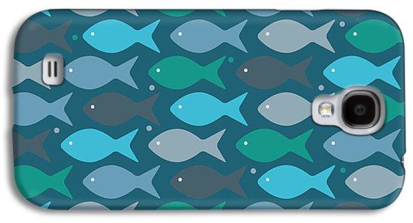 Fish Blue  Galaxy S4 Case by Mark Ashkenazi