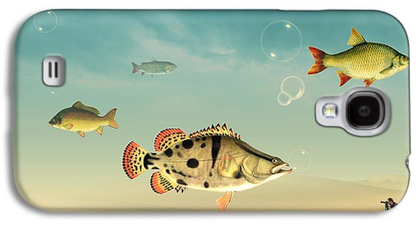 Spiritualism Galaxy S4 Cases - Fish Life  Galaxy S4 Case by Mark Ashkenazi