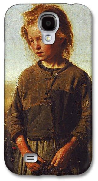 Fisher Girl Galaxy S4 Case by Ilya Efimovich Repin