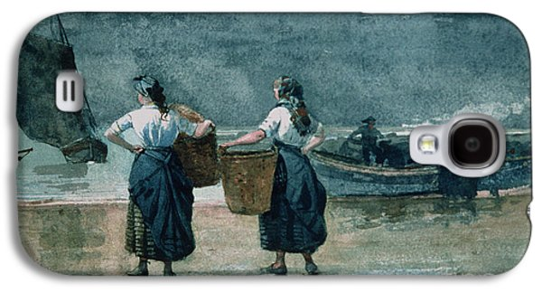 Animals Paintings Galaxy S4 Cases - Fisher Girls by the Sea Galaxy S4 Case by Winslow Homer