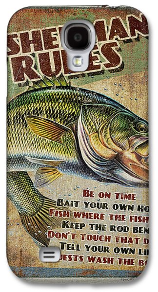 Retro Antique Galaxy S4 Cases - Fishermans Rules Galaxy S4 Case by JQ Licensing
