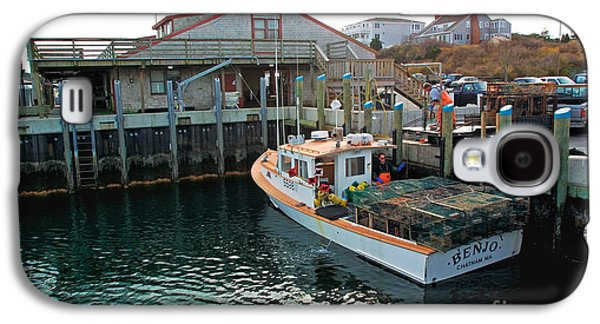 Chatham Galaxy S4 Cases - Fishing boat at Chatham Fish Pier Galaxy S4 Case by Matt Suess