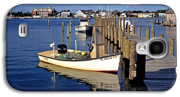 Boats At Dock Galaxy S4 Cases - Fishing boats at dock Ocracoke Village Galaxy S4 Case by Thomas R Fletcher