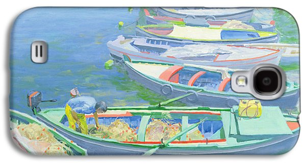 Fishing Boats Galaxy S4 Case by William Ireland