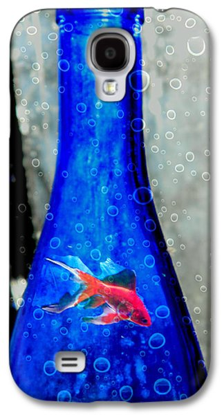 Nature Abstracts Galaxy S4 Cases - Fishy Bottle Galaxy S4 Case by Kathy Barney