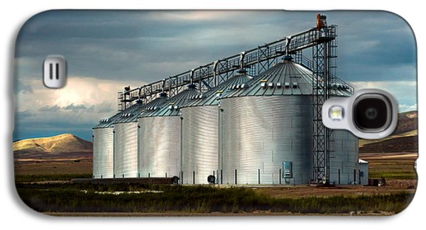 Landscape Acrylic Prints Galaxy S4 Cases - Five Silos on the Plains of the Texas Panhandle Galaxy S4 Case by MaryJane Armstrong