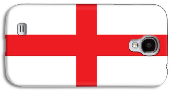 Flag Paintings Galaxy S4 Cases - Flag of England Galaxy S4 Case by English School