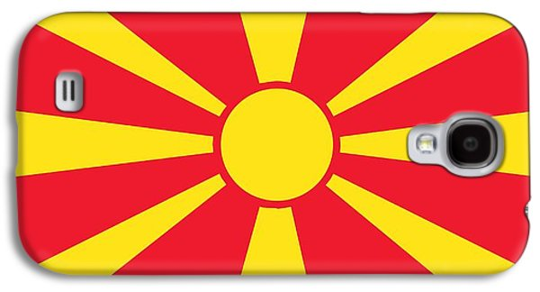 Patriotism Paintings Galaxy S4 Cases - Flag of Macedonia Galaxy S4 Case by Unknown