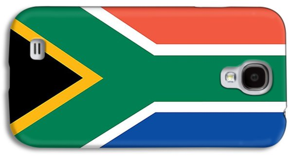 Flag Paintings Galaxy S4 Cases - Flag of South Africa Galaxy S4 Case by Unknown