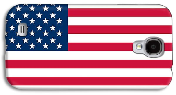 Stars And Stripes Paintings Galaxy S4 Cases - Flag of the United States of America Galaxy S4 Case by American School