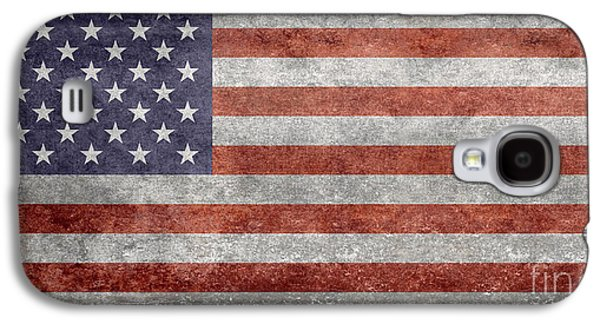 4th July Galaxy S4 Cases - Flag of the United States of America  Vintage Retro version Galaxy S4 Case by Bruce Stanfield