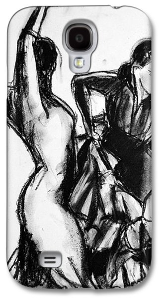Flamenco Sketch 1 Galaxy S4 Case by Mona Edulesco