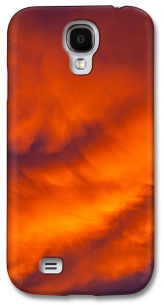 Raging Galaxy S4 Cases - Flaming Skies Galaxy S4 Case by Az Jackson