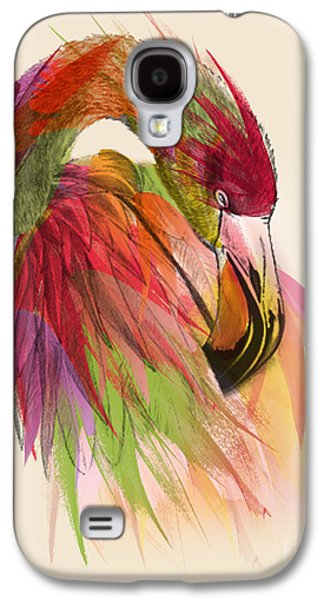 Abstract Digital Art Galaxy S4 Cases - Flamingo  Galaxy S4 Case by Mark Ashkenazi