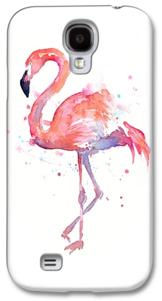 Flamingo Watercolor Galaxy S4 Case by Olga Shvartsur