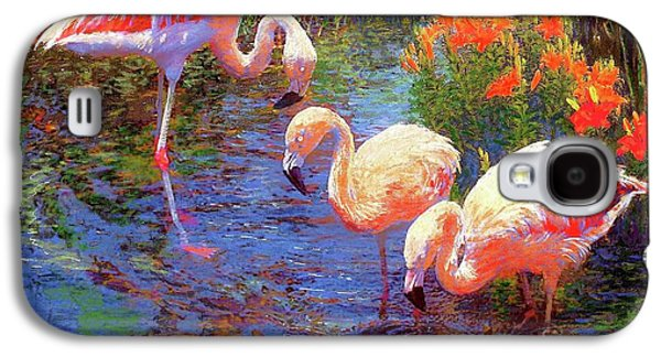 Flamingos, Tangerine Dream Galaxy S4 Case by Jane Small