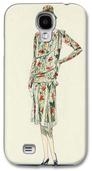 Flapper In An Afternoon Dress Galaxy S4 Case by American School