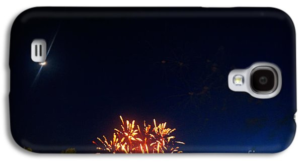 Fireworks Paintings Galaxy S4 Cases - Flares Galaxy S4 Case by Celestial Images