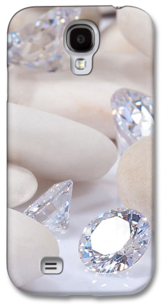 Stones Jewelry Galaxy S4 Cases - Flashing Diamond Galaxy S4 Case by Atiketta Sangasaeng