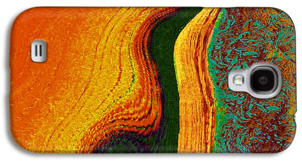 Abstract Movement Galaxy S4 Cases - Flat Art Galaxy S4 Case by Phillip Mossbarger