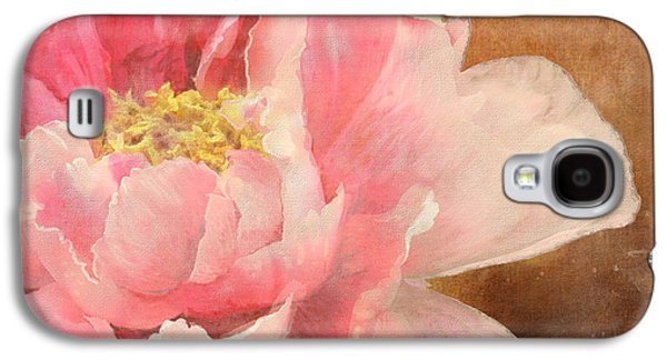 Impressionism Mixed Media Galaxy S4 Cases - Fleeting Glory - Peony 2 Galaxy S4 Case by Audrey Jeanne Roberts