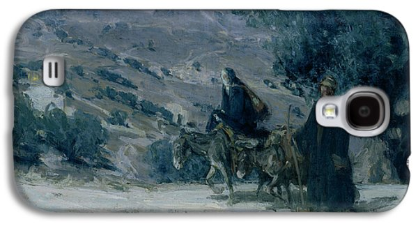 Religious Galaxy S4 Cases - Flight into Egypt Galaxy S4 Case by Henry Ossawa Tanner