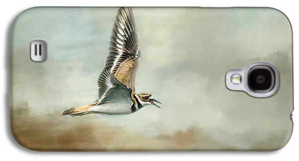 Deer At The Beach Galaxy S4 Cases - Flight Of The Killdeer Galaxy S4 Case by Jai Johnson